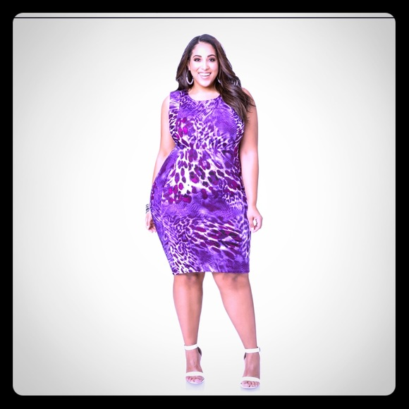 b9ab8332abe Ashley Stewart Dresses   Skirts -  Ashley Stewart  Purple Animal Print Dress